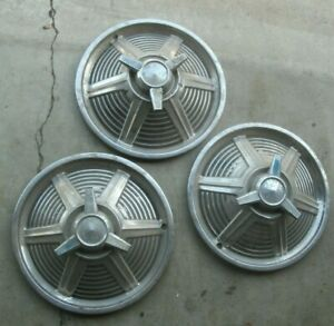 1965 1966 Ford Mustang Spinner Hub Caps Hubcaps X 3