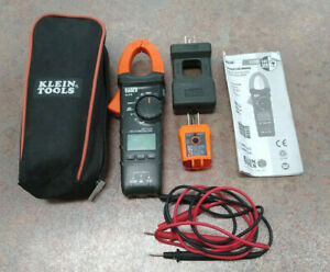 Klein Tools Cl110 Digital Clamp Meter Rt210 Gfci Outlet Tester W Case Leads