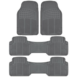 3 row Suv Car Floor Mats All Weather Heavy Duty Rubber For Honda Pilot gray