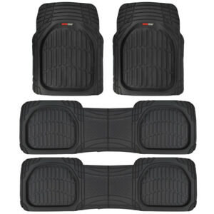 Motor Trend Flextough Deep Dish Heavy Duty Rubber Car Floor Mats 4 Pc Set