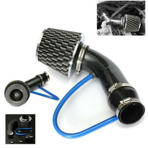 Carbon Fibre Car Cold Air Intake Filter Induction Pipe Power Flow Hose System