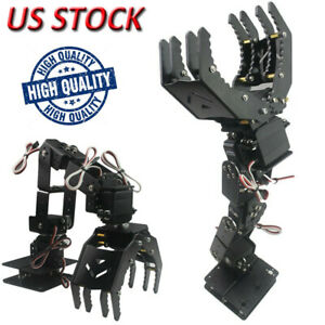 6dof Robot Mechanical Arm Hand Clamp Claw Manipulator Frame For Arduino Diy Us