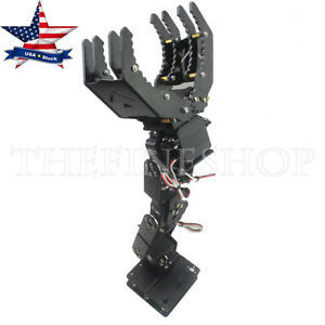 6dof Metal Robot Mechanical Arm Clamp Claw Manipulator Frame For Arduino Diy us