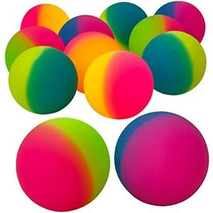 Jumbo Super Bouncy Balls pack Of 12 2 35 Inch For Kids In Bright Assorted By