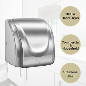 1800w Stainless Steel Commercial And Household Electric Hand Dryer