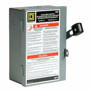 Square D By Schneider Electric L211n 30a Light duty 2 plug Safety Switch