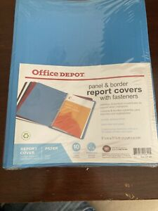 Report Covers Office Depot 10 Pack Lot Fasteners Panel Border Paper
