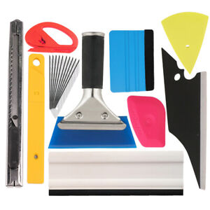 9pcs Car Wrap Vinyl Tools Kit Window Tint Installation Car Application Tool Set