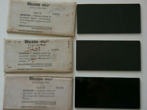 Vintage Lot Of 3 Wilson weld 2 X 4 1 4 Filter Plates Shade 10 11 12