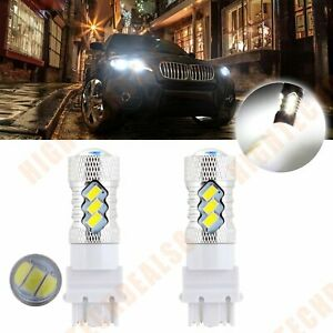 3157 3156 3057 Auto Cree Led 15smd 6000k Xenon Drl Daytime Light 60w 6000lm