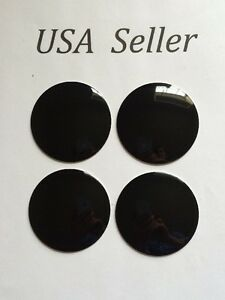 4pcs 3d Universal Aluminum Black 56 Mm 2 3 16 Wheel Center Caps Sticker
