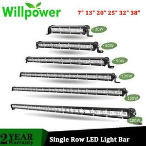 Willpower Super Slim Led Light Bar 7 13 20 25 32 38 60w 90w 120w 150w 180