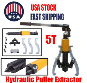 5 Ton Hydraulic Gear Bearing Wheel Bearing Puller Separator 3 Jaws Tool Set Kit