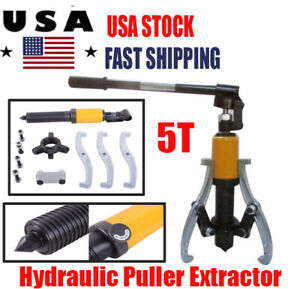 5t 5 Ton Hydraulic Puller Extractor Gear Extractor Bearing Wheel Separator 3 Jaw