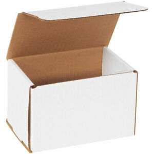 6x4x4 50 Pack Premium Packing Shipping Corrugated Mailers Carton Boxes White
