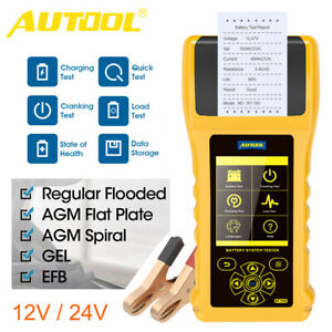 Autool Bt760 Car Battery Tester With Printer Auto Start Charging System Tester