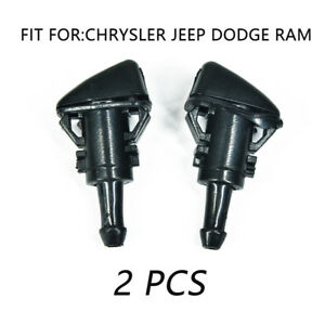 2pcs Windshield Washer Wiper Water Spray Nozzle For Chrysler 300 Dodge Charger