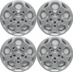 4 2011 Ford Fusion 17 Silver Hubcaps With Four 4 Locking Lugnuts