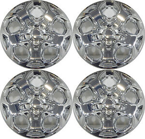 4 2011 Ford Fusion 17 Chrome Hubcaps With Four 4 Locking Lugnuts