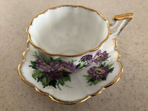 Salisbury Vintage Fine Bone China Cup And Saucer Floral England