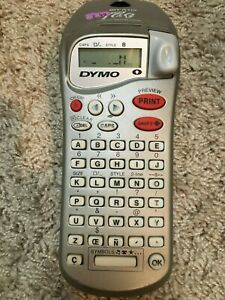 Nice Dymo Esselte Letratag Silver Handheld Labeler Maker Machine Portable