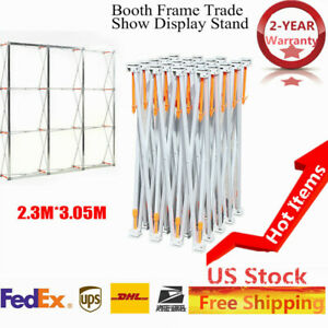 Portable 230mmx305mm Pop up Booth Frame Trade Show Display Stand Aluminum Alloy