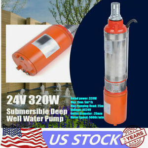 Stainless Steel Submersible Solar Water Pump Deep Well 320w 24dc 5m H 25m