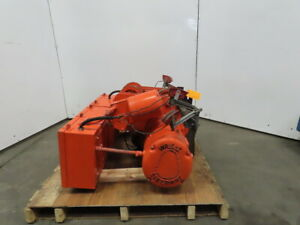 Wright Wh1 2 Ton Electric Hoist Power Trolley Wire Rope 21 Lift 15fpm 460v
