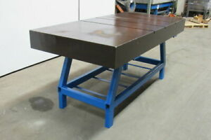 72 x36 x33 1 2 Cast Iron Welding Assembly Layout Inspection Table Bench