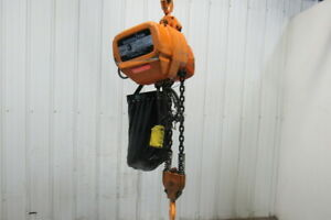 Harrington 3 Ton 17 5 6 Fpm 2speed 31 Travel Chain Hoist W trolley Load Tested