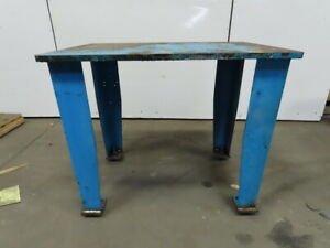 1 Thick Top Steel Fabrication Layout Welding Table Work Bench 44 X 30 x37 1 2