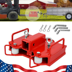 2 Forklift Receiver Hitch Attachments Fit For Dual Forks Trailer Moving Adapter
