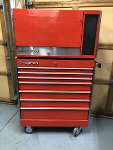 Snap On 7 Drawer Roll Cab With 12 Drawer Top Box