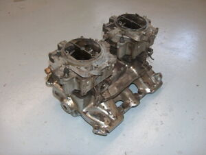 1955 Cadillac 2x4 Dual Quad Rochester Carbs And Intake Manifold Assembly