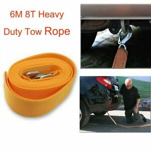 Heavy Duty Tow Rope 20 X 3 Towing Pull Strap Road Car Van Recovery 20 000lb