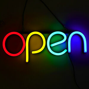 Super Bright Neon Led Business Sign Restaurant Open Light Store Display 16 6
