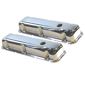 Chrome Steel Buick Valve Cover Kit With Grommets 350 1968 1981
