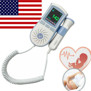 Lcd Fetal Doppler Heart Rate Detector Pregnant Pocket Doppler Baby Heart Monitor
