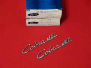 Nos 1969 1970 Ford Mustang Cobra Jet Hood Scoop Emblems C9zz 16720 A Pair In Box