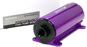 Obx Racing Purple Efi External Inline Electric Fuel Pump 45 Psi 700 Hp