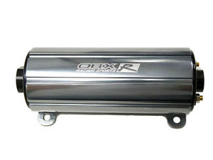 Obx Racing Efi External Inline Electric Fuel Pump Gun Metal Gray 700 Hp 45 Psi