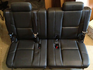 07 14 Cadillac Escalade Gmc Yukon Denali 3rd Row Seats Black Leather Chevy Tahoe