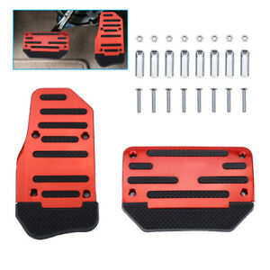 Sports Racing Accelerator Automatic Car Brake Pad Car Pedals Covers Universal Us