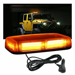 Amber yellow Led Strobe Light Bar Warning For Jeep Car Tow Trucks Roof Beacon