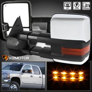 For 2007 2013 Silverado Sierra Facelift Style Led Power heated Side Tow Mirrors