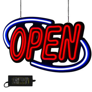 Large Open Neon Sign Led Light Tube For Business Store Bar Shop Decor 32 x16