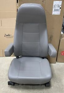 Freightliner M2 Semi Truck Gray Vinyl National Air Ride Bucket Seat W O Heat