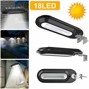 Outdoor Commercial 18 LED Solar Street Light IP55 Dusk to Dawn Waterproof Lamp $18.97