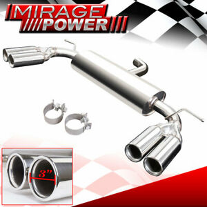 For 06 2009 Volkswagen Gti Mk5 Race Dual Quad Tip Catback Exhaust System 3 Tip