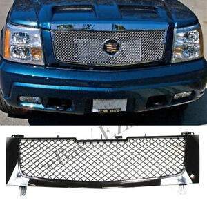 Fit Cadillac Escalade 2002 2003 2004 2005 2006 Bumper Hood Mesh Grille Grill